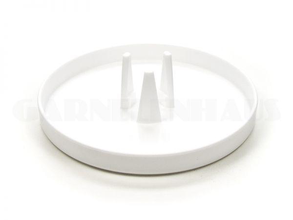 Futterschale EBI mit Adapter für Futterrohr, weiß