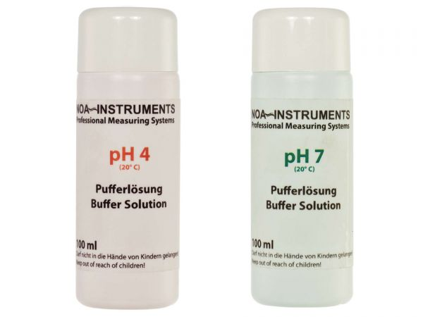 AQUA-NOA - Kalibrierlösung / Pufferlösung / Eichlösung, pH 4 und pH 7