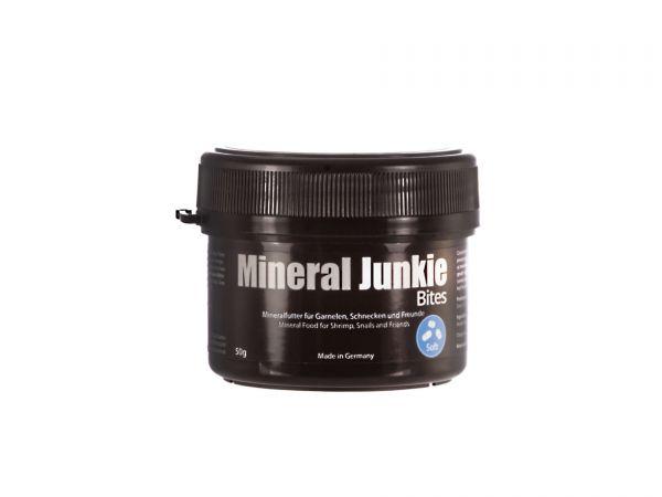 GlasGarten - Mineral Junkie Bites - 50g-Dose - Ergänzungsfutter für Garnelen im Aquarium