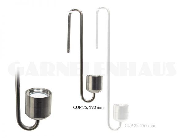 CO2 Diffusor Edelstahl Cup 25, 190 mm
