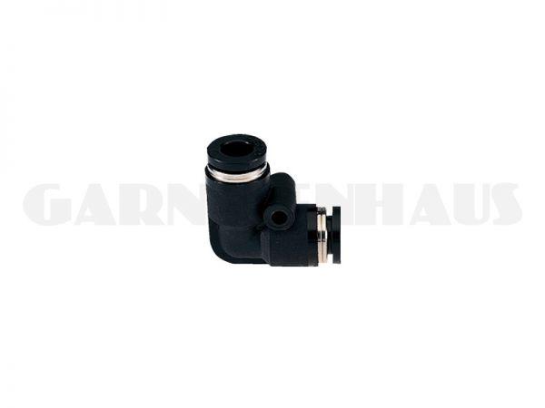 Elbow Union (90°-Winkel), schwarz