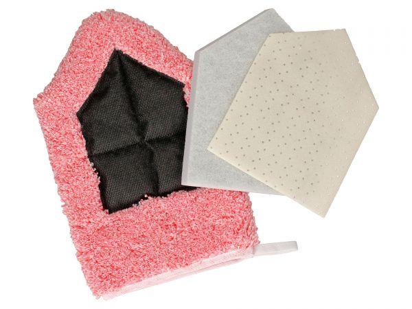 JÖST Mikrofaser Pentagon Handschuh inkl. Superclean Pad und Schonauflage