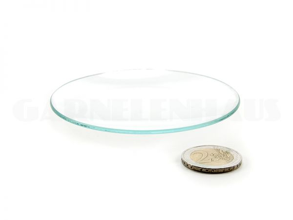 Flache Futterschale Glas, 83/10 mm