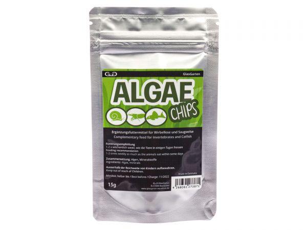 GlasGarten - Algae Chips (Algen-Chips) für Schnecken, Garnelen, Saugwelse, 15g