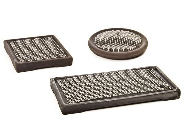 GH-GOODS - Riccia & Moospads aus Keramik mit Edelstahlgitter (Kultivierplatten)