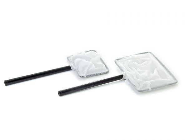 Chihiros Garnelenkescher / Fangnetz, weich, flexibel, weiß und mit Teleskop-Stiel