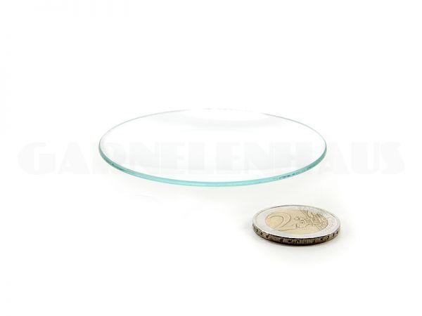 Flache Futterschale Glas, 62/8 mm