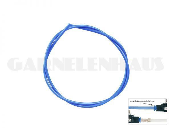 CO2-Schlauch, blau-transparent, 2 m