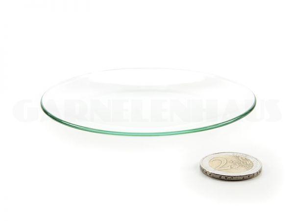 Flache Futterschale Glas, 100/13 mm