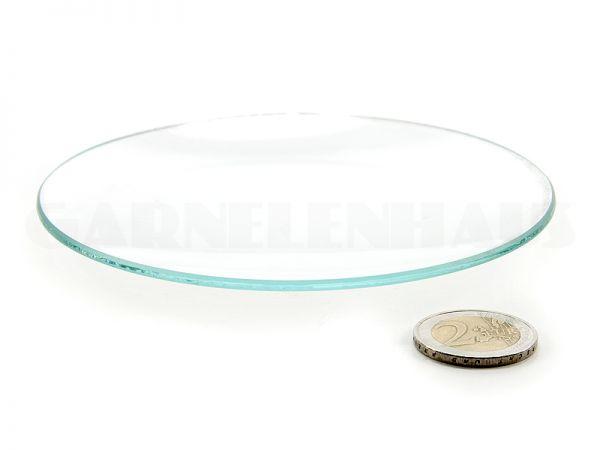 Flache Futterschale Glas, 123/13 mm