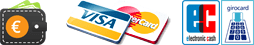 Barzahlung, Kreditkarte, ec-Karte